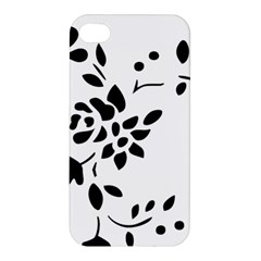 Flower Rose Black Sexy Apple Iphone 4/4s Premium Hardshell Case by Mariart