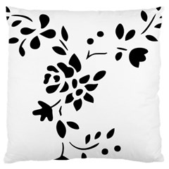 Flower Rose Black Sexy Large Cushion Case (two Sides) by Mariart