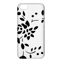Flower Rose Black Sexy Apple Iphone 5c Hardshell Case by Mariart