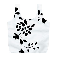 Flower Rose Black Sexy Full Print Recycle Bags (l)  by Mariart