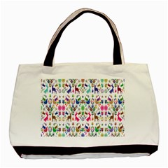 Birds Fish Flowers Floral Star Blue White Sexy Animals Beauty Rainbow Pink Purple Blue Green Orange Basic Tote Bag by Mariart