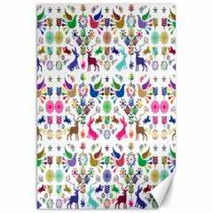 Birds Fish Flowers Floral Star Blue White Sexy Animals Beauty Rainbow Pink Purple Blue Green Orange Canvas 20  X 30   by Mariart