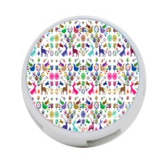 Birds Fish Flowers Floral Star Blue White Sexy Animals Beauty Rainbow Pink Purple Blue Green Orange 4 Port Usb Hub (two Sides)  by Mariart