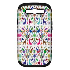 Birds Fish Flowers Floral Star Blue White Sexy Animals Beauty Rainbow Pink Purple Blue Green Orange Samsung Galaxy S Iii Hardshell Case (pc+silicone) by Mariart