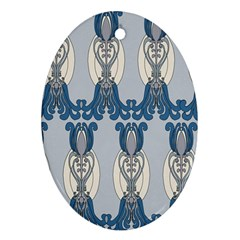 Flower Floral Leaf Beauty Art Ornament (oval) by Mariart