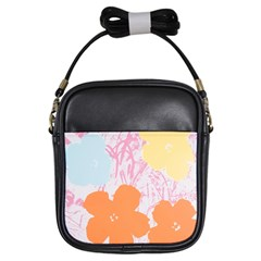 Flower Sunflower Floral Pink Orange Beauty Blue Yellow Girls Sling Bags by Mariart