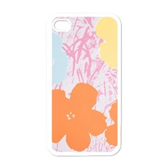 Flower Sunflower Floral Pink Orange Beauty Blue Yellow Apple Iphone 4 Case (white) by Mariart