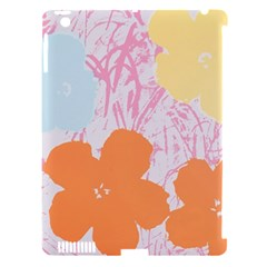 Flower Sunflower Floral Pink Orange Beauty Blue Yellow Apple Ipad 3/4 Hardshell Case (compatible With Smart Cover) by Mariart