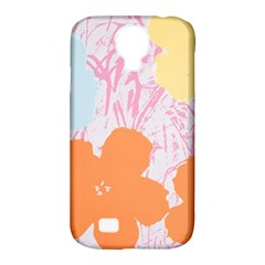 Flower Sunflower Floral Pink Orange Beauty Blue Yellow Samsung Galaxy S4 Classic Hardshell Case (pc+silicone) by Mariart
