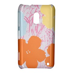 Flower Sunflower Floral Pink Orange Beauty Blue Yellow Nokia Lumia 620 by Mariart
