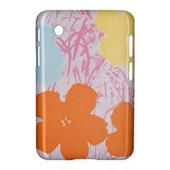 Flower Sunflower Floral Pink Orange Beauty Blue Yellow Samsung Galaxy Tab 2 (7 ) P3100 Hardshell Case  by Mariart
