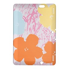 Flower Sunflower Floral Pink Orange Beauty Blue Yellow Kindle Fire Hdx 8 9  Hardshell Case by Mariart