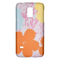 Flower Sunflower Floral Pink Orange Beauty Blue Yellow Galaxy S5 Mini by Mariart