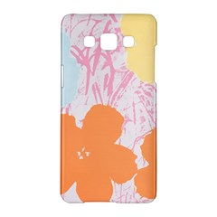 Flower Sunflower Floral Pink Orange Beauty Blue Yellow Samsung Galaxy A5 Hardshell Case  by Mariart