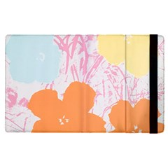 Flower Sunflower Floral Pink Orange Beauty Blue Yellow Apple Ipad Pro 12 9   Flip Case by Mariart