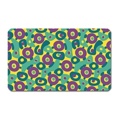 Discrete State Turing Pattern Polka Dots Green Purple Yellow Rainbow Sexy Beauty Magnet (rectangular) by Mariart