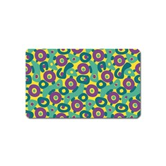Discrete State Turing Pattern Polka Dots Green Purple Yellow Rainbow Sexy Beauty Magnet (name Card) by Mariart