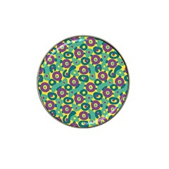 Discrete State Turing Pattern Polka Dots Green Purple Yellow Rainbow Sexy Beauty Hat Clip Ball Marker (10 Pack)