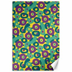 Discrete State Turing Pattern Polka Dots Green Purple Yellow Rainbow Sexy Beauty Canvas 20  X 30   by Mariart