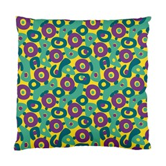 Discrete State Turing Pattern Polka Dots Green Purple Yellow Rainbow Sexy Beauty Standard Cushion Case (two Sides) by Mariart
