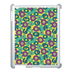 Discrete State Turing Pattern Polka Dots Green Purple Yellow Rainbow Sexy Beauty Apple Ipad 3/4 Case (white) by Mariart