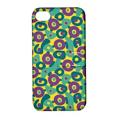 Discrete State Turing Pattern Polka Dots Green Purple Yellow Rainbow Sexy Beauty Apple Iphone 4/4s Hardshell Case With Stand by Mariart