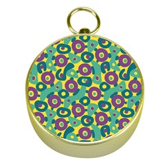 Discrete State Turing Pattern Polka Dots Green Purple Yellow Rainbow Sexy Beauty Gold Compasses by Mariart