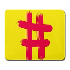 Fun Ain t Gone Fence Sign Red Yellow Flag Large Mousepads by Mariart