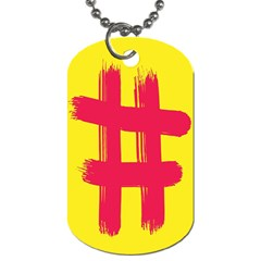 Fun Ain t Gone Fence Sign Red Yellow Flag Dog Tag (two Sides) by Mariart