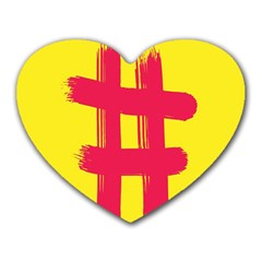 Fun Ain t Gone Fence Sign Red Yellow Flag Heart Mousepads by Mariart