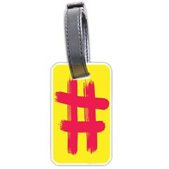 Fun Ain t Gone Fence Sign Red Yellow Flag Luggage Tags (two Sides) by Mariart