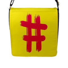 Fun Ain t Gone Fence Sign Red Yellow Flag Flap Messenger Bag (l)  by Mariart
