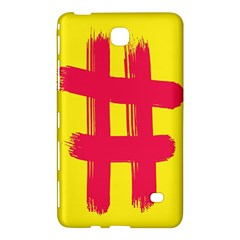 Fun Ain t Gone Fence Sign Red Yellow Flag Samsung Galaxy Tab 4 (8 ) Hardshell Case  by Mariart