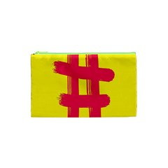 Fun Ain t Gone Fence Sign Red Yellow Flag Cosmetic Bag (xs) by Mariart