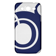 Garamond Blue White Wave Chevron Samsung Galaxy Mega 5 8 I9152 Hardshell Case  by Mariart