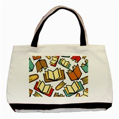 Friends Library Lobby Book Sale Basic Tote Bag by Mariart