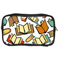 Friends Library Lobby Book Sale Toiletries Bags 2 Side by Mariart