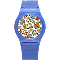 Friends Library Lobby Book Sale Round Plastic Sport Watch (s) by Mariart
