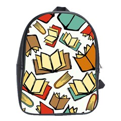 Friends Library Lobby Book Sale School Bag (xl) by Mariart