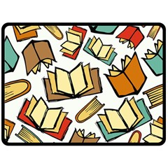 Friends Library Lobby Book Sale Double Sided Fleece Blanket (large)  by Mariart