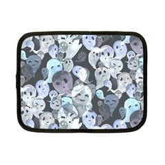 Ghosts Blue Sinister Helloween Face Mask Netbook Case (small)  by Mariart