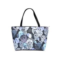 Ghosts Blue Sinister Helloween Face Mask Shoulder Handbags by Mariart