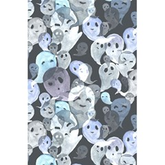 Ghosts Blue Sinister Helloween Face Mask 5 5  X 8 5  Notebooks by Mariart