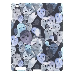 Ghosts Blue Sinister Helloween Face Mask Apple Ipad 3/4 Hardshell Case by Mariart