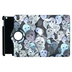 Ghosts Blue Sinister Helloween Face Mask Apple Ipad 2 Flip 360 Case by Mariart