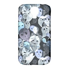 Ghosts Blue Sinister Helloween Face Mask Samsung Galaxy S4 Classic Hardshell Case (pc+silicone) by Mariart
