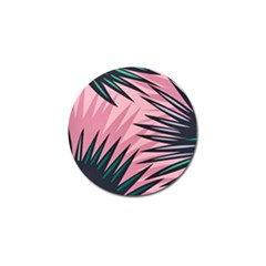 Graciela Detail Petticoat Palm Pink Green Golf Ball Marker (4 Pack) by Mariart