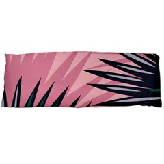 Graciela Detail Petticoat Palm Pink Green Body Pillow Case Dakimakura (two Sides) by Mariart