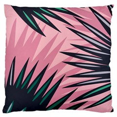 Graciela Detail Petticoat Palm Pink Green Large Cushion Case (two Sides) by Mariart