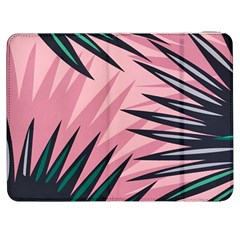 Graciela Detail Petticoat Palm Pink Green Samsung Galaxy Tab 7  P1000 Flip Case by Mariart